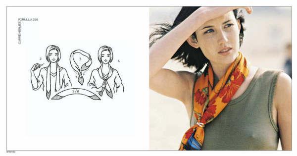 丝巾的系法图片
