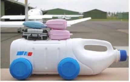 手工制作小直升飞机:瓶子的diy世界