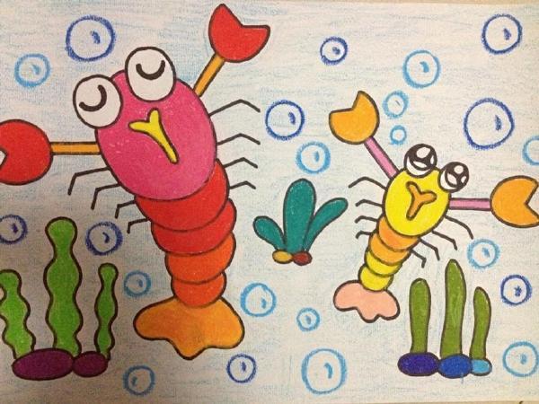 儿童美术半圆绘画