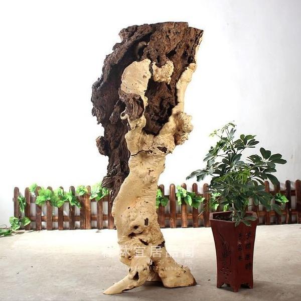 宜居品阁/天然根雕木雕/大叶瓜树瘤根艺摆件