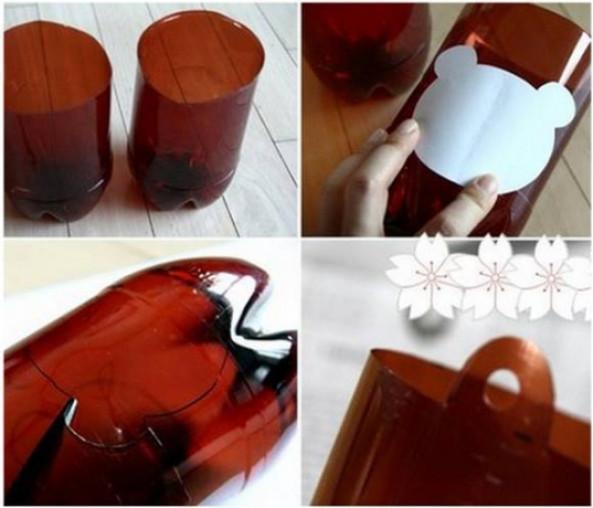 diy可乐瓶手工制作花瓶花篮花盆 用可乐瓶小制作 可