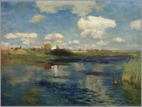 列维坦风景油画