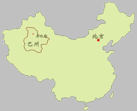 巴音郭楞蒙古自治州地图