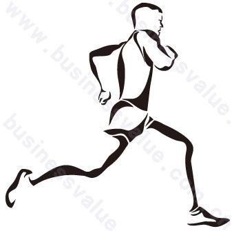 少年跑步简笔画