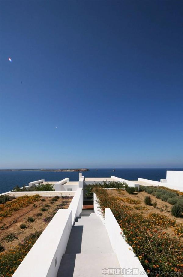 react希腊基克拉泽斯帕罗斯岛海边夏季住宅项目