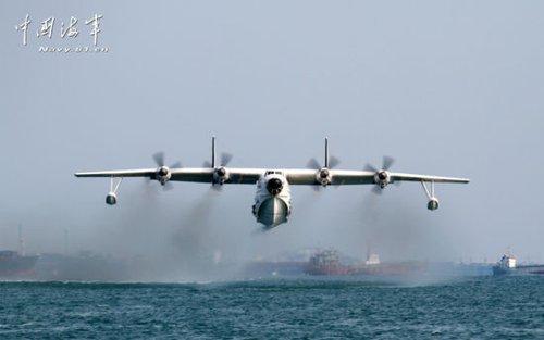 海军一架水上飞机在飞行训练中失事坠海