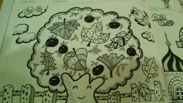 幼儿园线描画