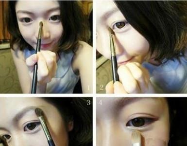 韩国美女示范韩系裸妆画法
