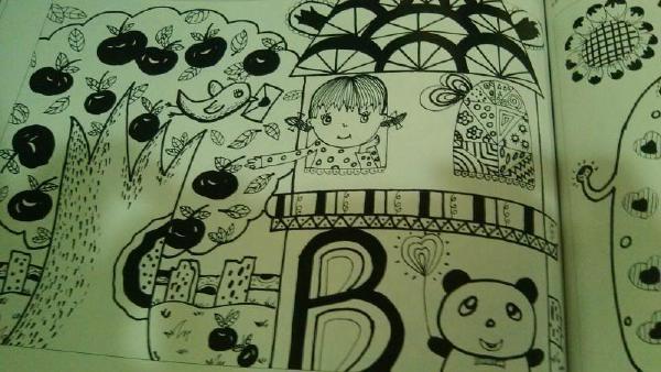 幼儿园线描画|微刊 - 悦读喜欢