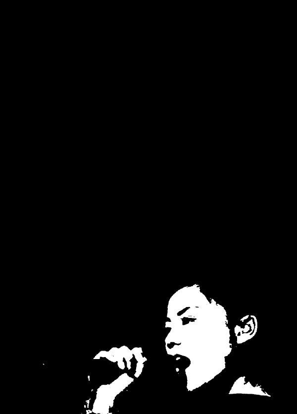 【黑白菲菲】faye wong黑白剪影系列手机壁纸
