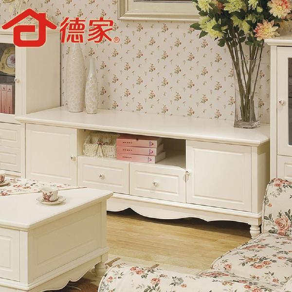 德家韩式家具1电视柜地柜田园实木欧式组合电视机柜特价