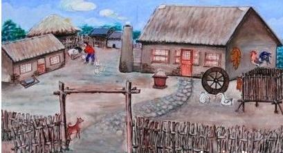 羊角房子简笔画