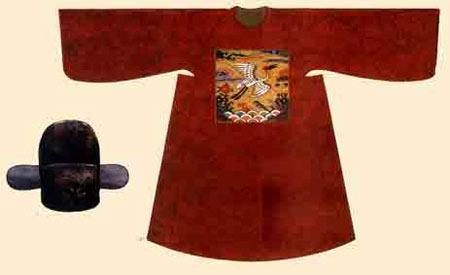 中国丝绸服饰之:古代官服