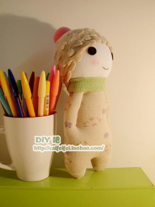布凡手工制作布偶公仔 手工布艺diy材料 袜子娃娃材料