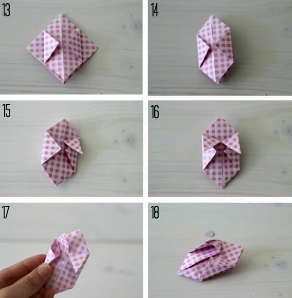 方形剪拉花的步骤图