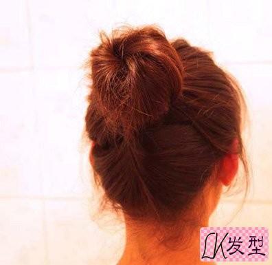 中长头发新发型扎法 韩式可爱道姑头扎头发图解