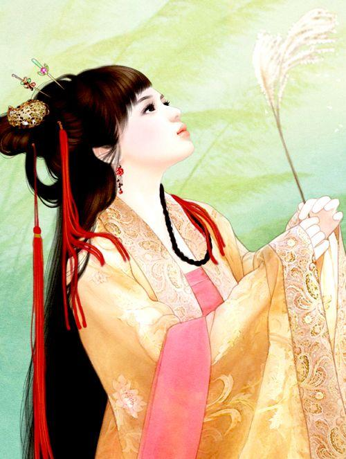 唯美古装美女手绘图片:倾我一世繁华