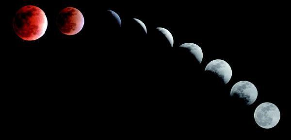 地点选择:夜间拍摄月全食,要尽量远离城市中繁杂的光线.