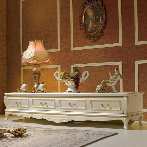 法拉丹顿欧式电视柜简欧白色电视柜简约实木电视机柜法式地柜