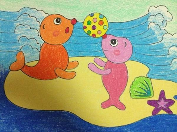 儿童黑白线描画范画 教师节的画画