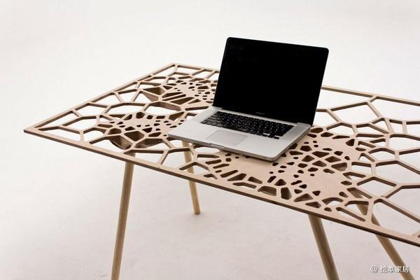 Fall off 泰森多边形网状笔记本电脑桌