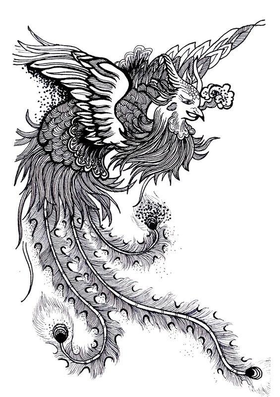 《绘本--旅程在纸上》 中国风黑白装饰画毕业设计作品  中国风黑白