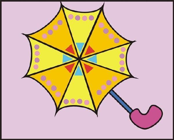 幼儿简笔画步骤雨伞