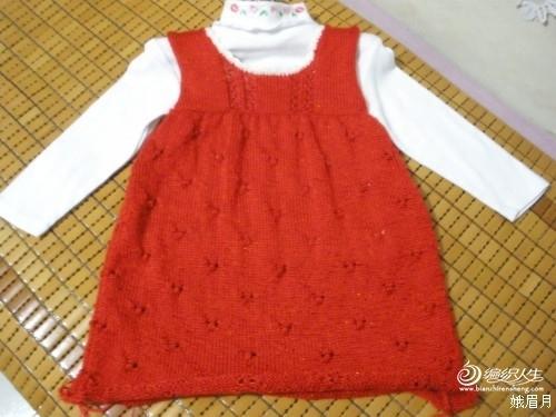 手工编织公主裙 毛线裙的编织方法