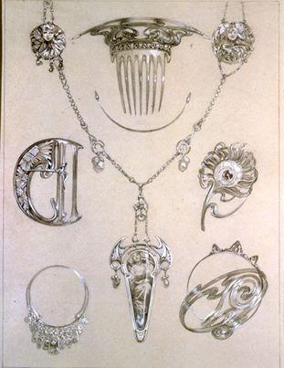 动物首饰设计图手稿