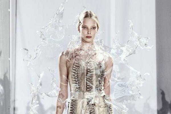 创意服装设计 定格的水花